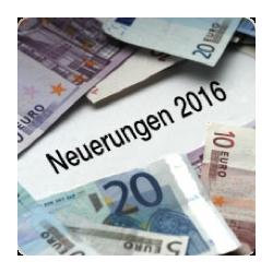 steuerrechtliche Neuerungen 2016