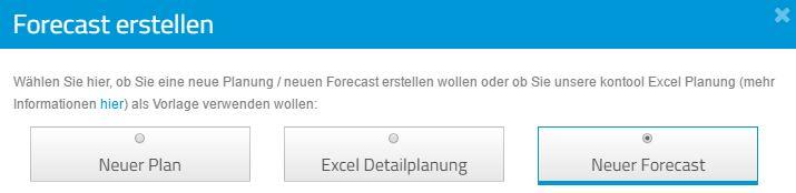 In kontool ist es kinderleicht einen Forecast zu erzeugen
